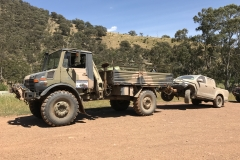 Unimog Towing job